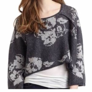 Free People Cropped Rose Sweater